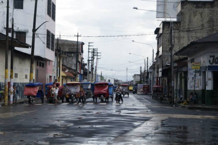 Wszechobecne mototaxis Iquitos