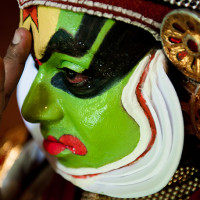 India, Kerala. Kathakali dancer, DSC_6426