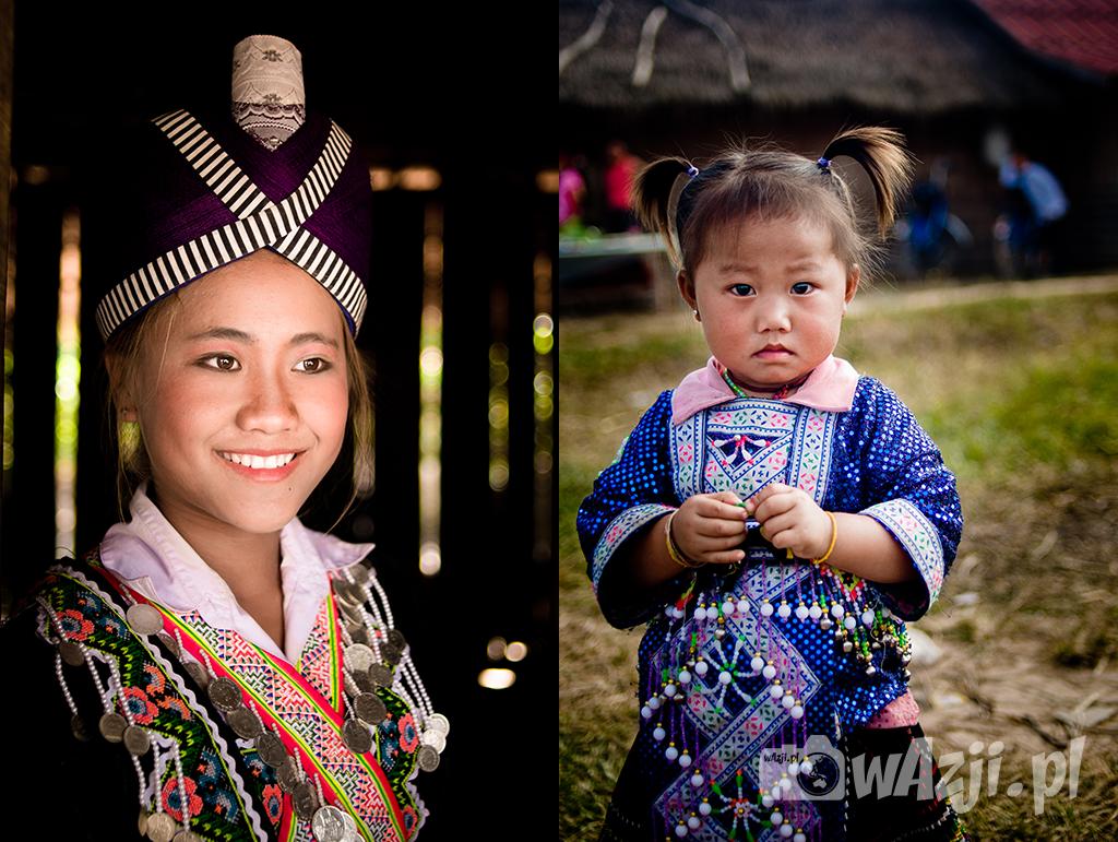 Dziewczyny Hmong podczas lokalnego festiwalu.