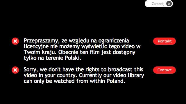 Dostęp do polskich programów za granicą