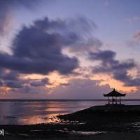 Bali 2008. Wschód słońca w Sanur.
