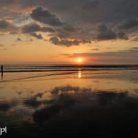 Bali 2008. Zachód słońca w Kucie.