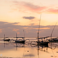 Bali 2008. Inny wschód słońca w Sanur.