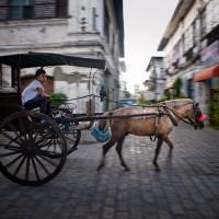 Philippines, Ilocos. Kalesa on the street of Vigan, DSC_5595
