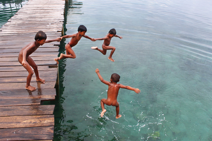 WIOSKA MORSKICH CYGANÓW BAJO.INDONEZJA