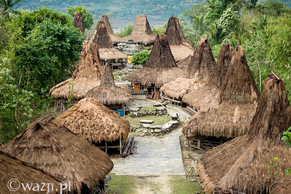 21. Indonezja, Sumba. Tradycyjne domy w Praijing, rzadko odwiedzanej wiosce znanej z porywczości jej mieszkańców, którzy nie tak dawno spalili wioskę sąsiadów. (listopad 2014)