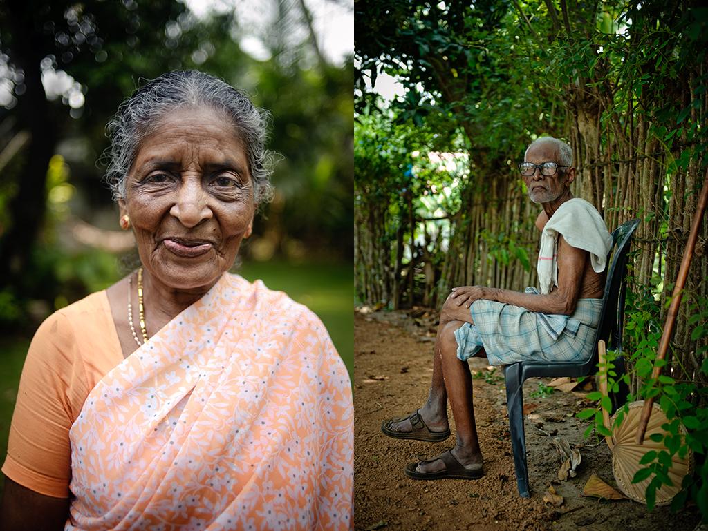 2. Od lewej: Indie, Kerala. Marzec 2012. Moja przybrana babcia z Alleppey. 3. Od prawej. Indie, Kerala. Marzec 2012. Odpoczynek we wiosce w keralskich rozlewiskach.