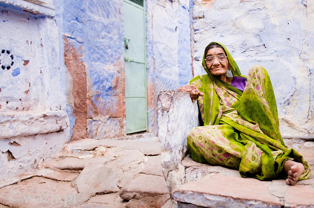 25. Indie, Radźastan. Kwiecień 2011. Portret z jodhpurskiej starówki.