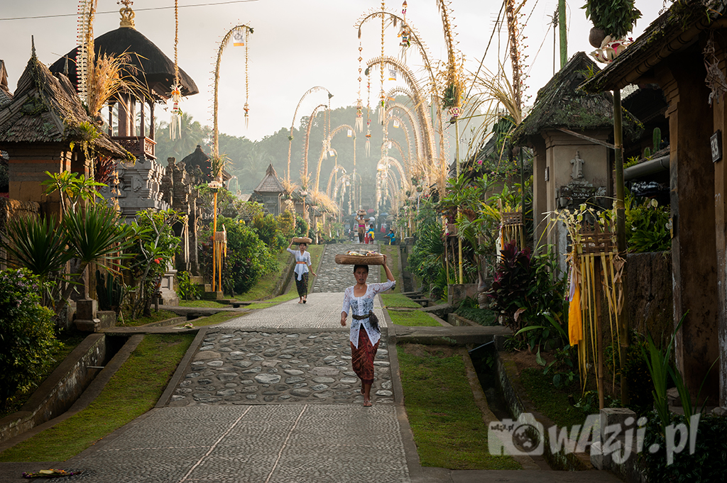 Indonezja, Bali. Poranek we wiosce Penglipuran. (lipiec 2015)
