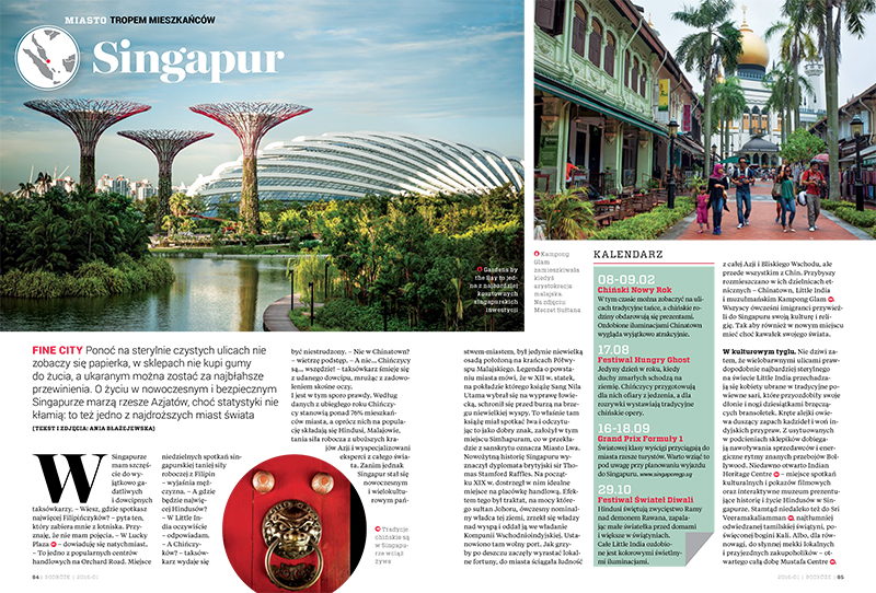 Singapur. Miasto tropem mieszkańców. Numer 1/12/2016