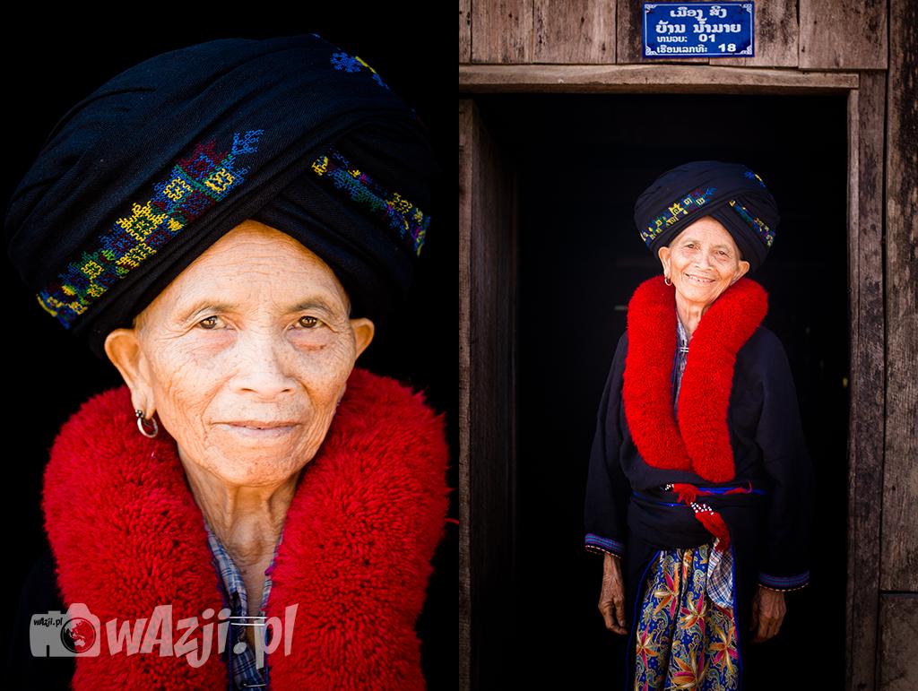 Kobieta z wioski Mien w okolicy Muang Sing.