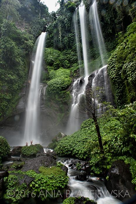 Bali, Indonezja. Maj 2016. Sekumpul - prawdopodobnie najpiękniejszy wodospad na Bali.